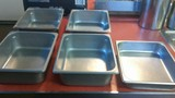 5 Stainless steel half hotel pans