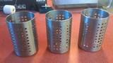Stainless steel silverware holders