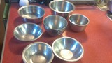 7 Misc Stainless steel bowls