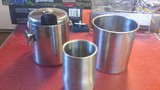 3 Misc Stainless steel containers