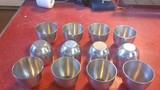 12 Stainless steel custard cups