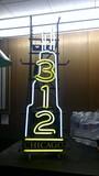 312 Chicago Neon Sign
