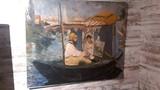 Claude Monet In His Floating Studio Artograph by Monet