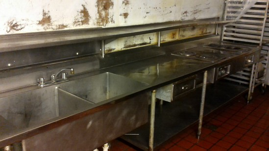 Stainless Steel Counter & Sinks with Wells Electric Burners