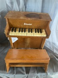 Vintage Miniature Piano & Bench
