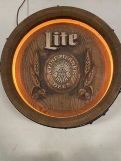 Miller Lite lighted beer sign