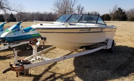 Adventure 1800 - 16ft Boat with 140 Mercruiser - In Board, 4 Cylinder Motor on Trailer