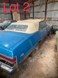 Lot 2: 1975 Buick LeSabre 2 door convertible, 400 Big Block, auto with 87,845 miles VIN: