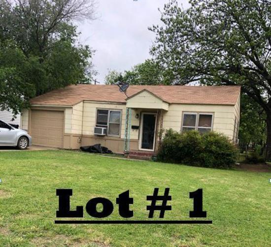 LOT# 1 - 605 SW 45th, OKC - 2 bed 1 bath, living room, kitchen & attached 1 car garage. Rents for