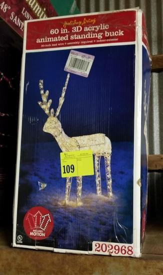 60 inch 3D Acrylic Animated Standing Buck