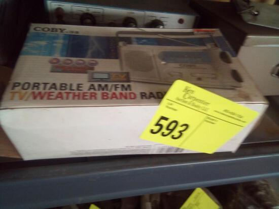 Portable AM/FM - TV Weatherband Radio