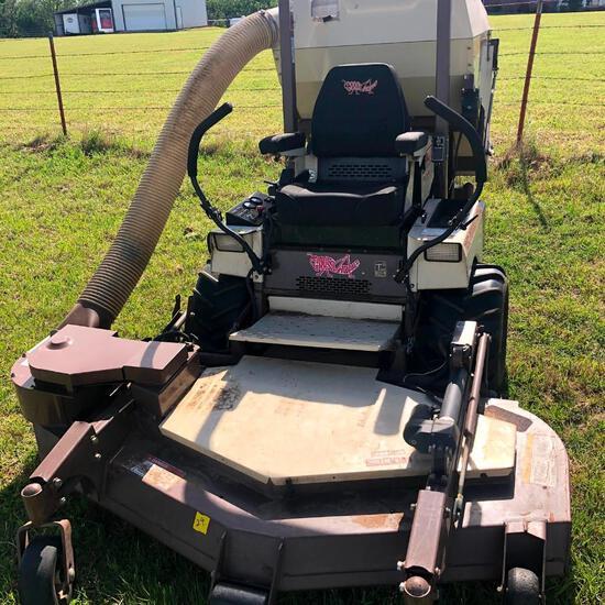 """Grasshopper 725D Zero-Turn Mower w/ Powervac, 15B Grass Catcher, 60"""" Deck, Diesel, 1 Owner,"""