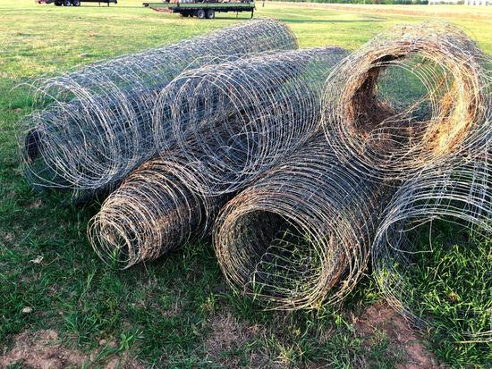 Several Rolls of 8' Hog Wire - Feet Unknown