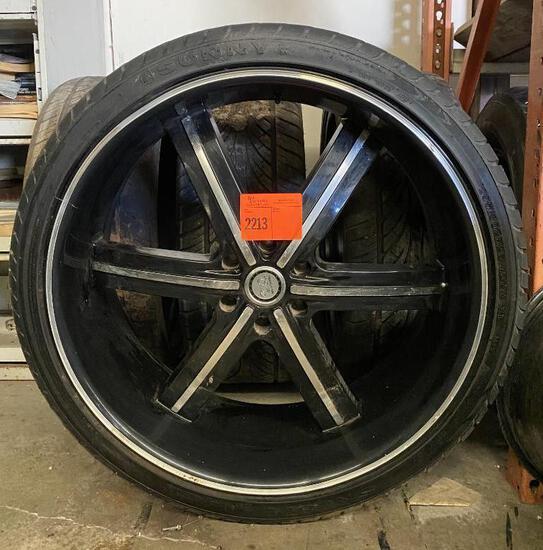 """4 - 26"""" Wheels 6 Lug w/Tires 295/30/26"""