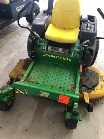 "JD Z445 Zero-Turn Mower - 54"" Deck, 280 Hrs, 25Hp Kawasaki Motor & 1 Owner"
