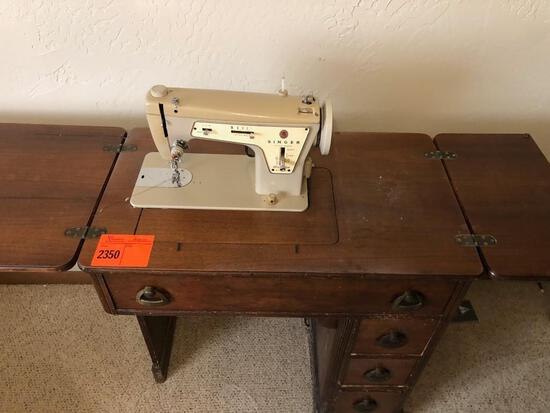Singer Sewing Machine - Model 237 Fashion Mate w/ Cabinet