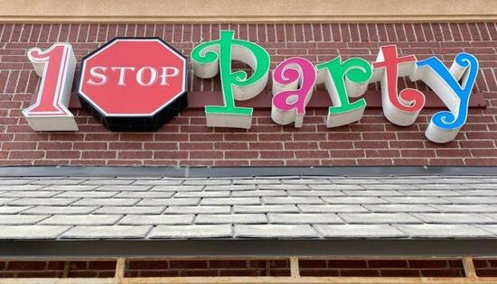 Store Sign - 1 STOP PARTY