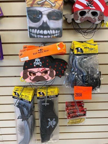 10 Halloween Pirate Makeup 11 Pirate Eye Patch 4pk 24 Halloween Pirate Masks 6 Pirate Hat Foam 11