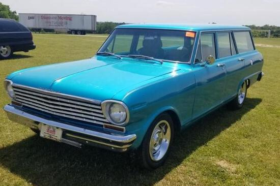 1963 Classic Chevrolet Nova Wagon - Chevy Small Block, Edelbrock Brake & Carburetor, Air