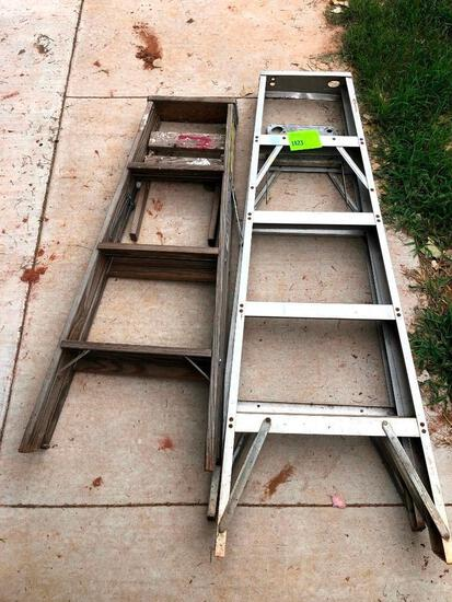 5 - Ladder & 4ft Wooden Ladder