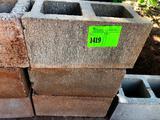 9 Concrete Blocks, 8 Solid Blocks & 1 Roll Wire