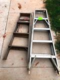 5 - Ladder & 4ft Wooden Ladder