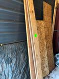 4X8 Sheet 1/4in Plywood, 8ft 2X6, 8ft 1X8 & Misc