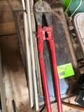 Table and Bolt Cutter