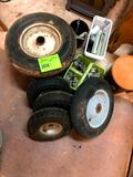 Several Tires and Wheels