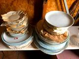 Shelves of Old Plates