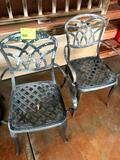 2 Metal Chairs with Table