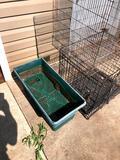 2 Chicken Cages & 1 Garden pot
