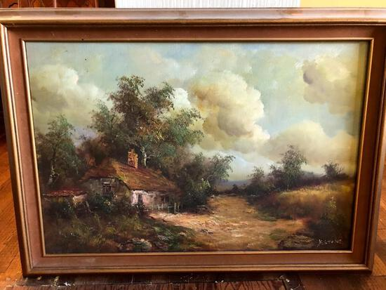 Large Rural Landscape Painting - 36 by 24