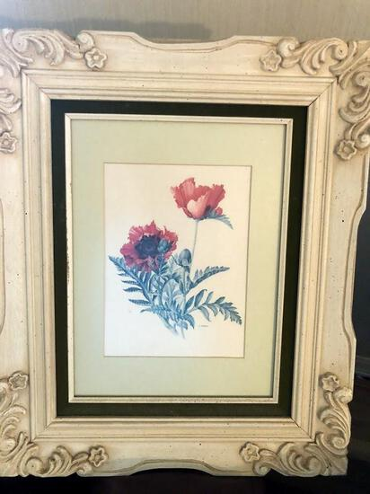 Poppies with White Frame