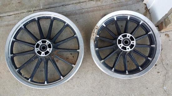 Set of Motorcycle Wheels
