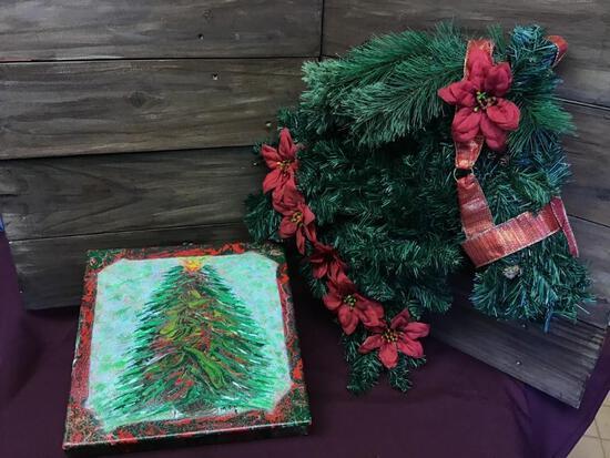 Wreath & Christmas Tree