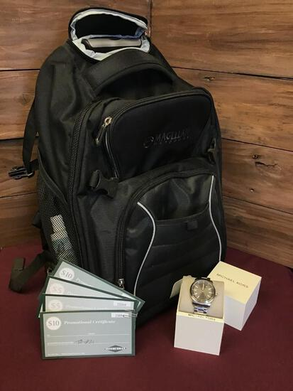 Michael Kors Watch, Rolling Backpack & Gift Card