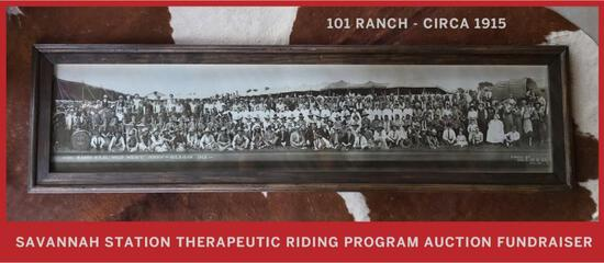 101 Ranch Wild West Show, Custom framed Print