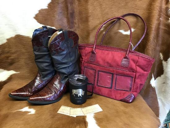 Boots, Purse, Mug & Gift Card.