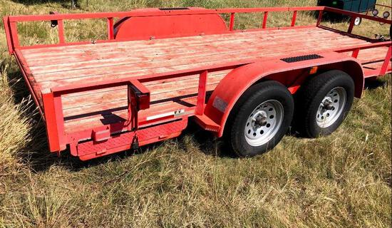 Maxey 16ft. x 77in. Flatbed trailer with Ramps