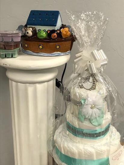 Noah's Ark Scentsy and Diaper Cake