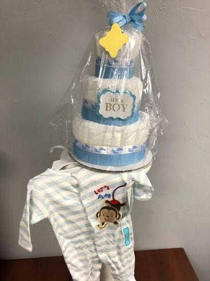 It's Another Boy Diaper Cake Set