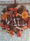 Football in the Fall Wreath