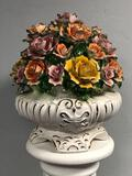 Capodimonte Porcelain Basket of Flowers