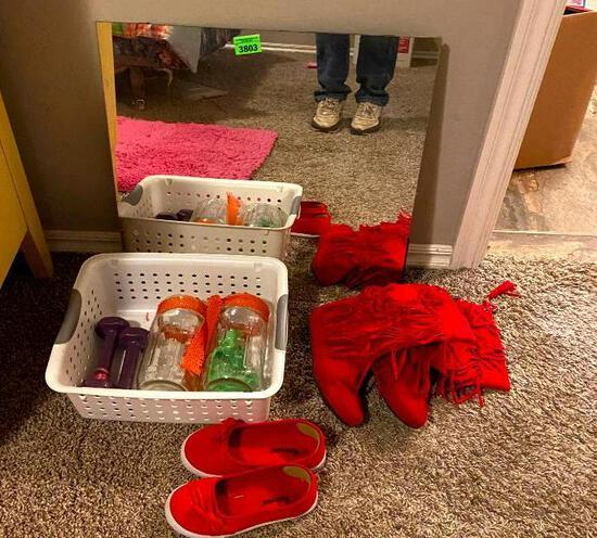 Mirror / Shoes / Glass Jars / Weights / Tub