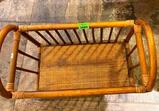 Antique Wicker Doll Bed