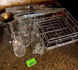 Glassware, Basket, Utensils