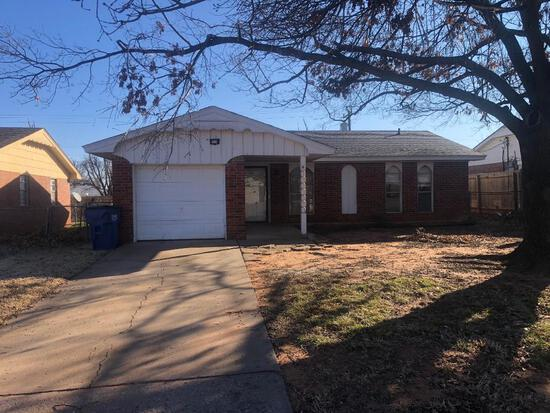 3 Bed, 1 Bath, 1 Car Garage Brick Home in Meadows Addition, 6yr Old Roof & 2019 Taxes $838.00. This