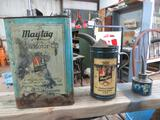 VINTAGE OLD ANTIQUE MAYTAG TINS
