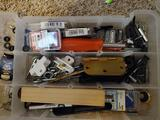 Organizer box with screws hinges and other small items
